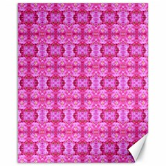 Pretty Pink Flower Pattern Canvas 16  x 20