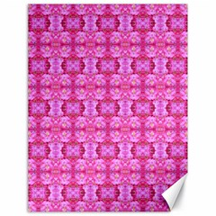 Pretty Pink Flower Pattern Canvas 18  x 24