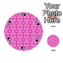 Pretty Pink Flower Pattern Playing Cards 54 (Round)