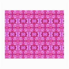 Pretty Pink Flower Pattern Small Glasses Cloth (2-Side)