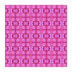 Pretty Pink Flower Pattern Medium Glasses Cloth (2-Side)