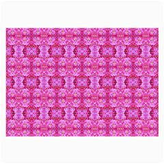 Pretty Pink Flower Pattern Large Glasses Cloth