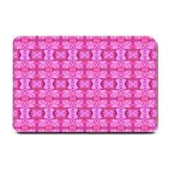 Pretty Pink Flower Pattern Small Doormat