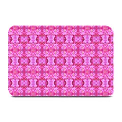 Pretty Pink Flower Pattern Plate Mats