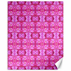 Pretty Pink Flower Pattern Canvas 11  x 14
