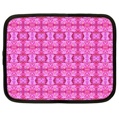 Pretty Pink Flower Pattern Netbook Case (Large)