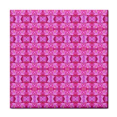 Pretty Pink Flower Pattern Face Towel