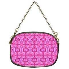 Pretty Pink Flower Pattern Chain Purses (one Side)  by Costasonlineshop