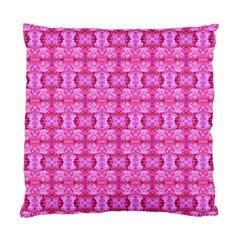 Pretty Pink Flower Pattern Standard Cushion Case (One Side)