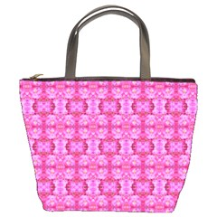 Pretty Pink Flower Pattern Bucket Bags