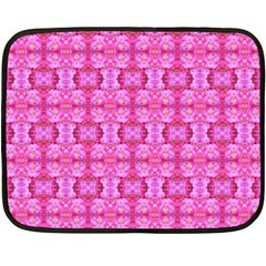 Pretty Pink Flower Pattern Fleece Blanket (Mini)