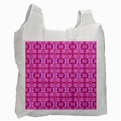 Pretty Pink Flower Pattern Recycle Bag (Two Side)