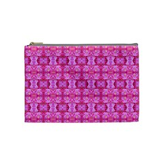 Pretty Pink Flower Pattern Cosmetic Bag (Medium)