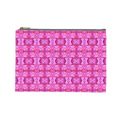 Pretty Pink Flower Pattern Cosmetic Bag (Large)