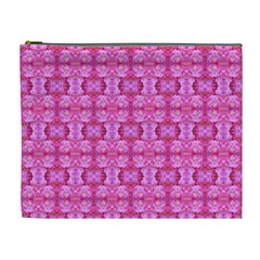 Pretty Pink Flower Pattern Cosmetic Bag (XL)