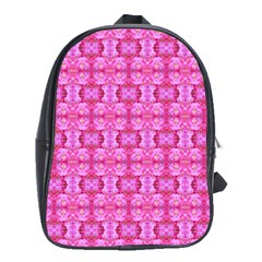 Pretty Pink Flower Pattern School Bags(Large)
