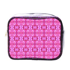 Pretty Pink Flower Pattern Mini Toiletries Bags