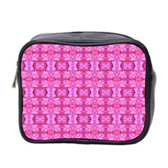 Pretty Pink Flower Pattern Mini Toiletries Bag 2-Side