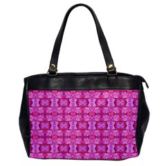 Pretty Pink Flower Pattern Office Handbags