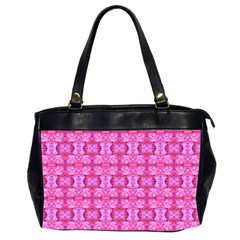 Pretty Pink Flower Pattern Office Handbags (2 Sides)