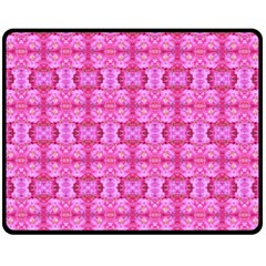 Pretty Pink Flower Pattern Fleece Blanket (Medium)