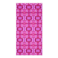 Pretty Pink Flower Pattern Shower Curtain 36  x 72  (Stall)