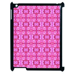 Pretty Pink Flower Pattern Apple iPad 2 Case (Black)