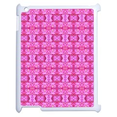 Pretty Pink Flower Pattern Apple Ipad 2 Case (white) by Costasonlineshop