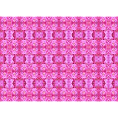 Pretty Pink Flower Pattern Birthday Cake 3D Greeting Card (7x5)
