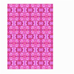 Pretty Pink Flower Pattern Large Garden Flag (Two Sides)