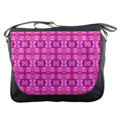 Pretty Pink Flower Pattern Messenger Bags
