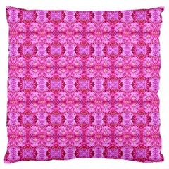Pretty Pink Flower Pattern Large Cushion Cases (Two Sides)