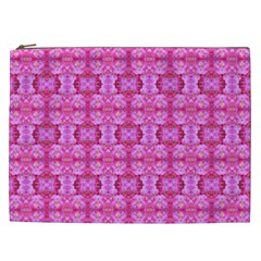 Pretty Pink Flower Pattern Cosmetic Bag (XXL)