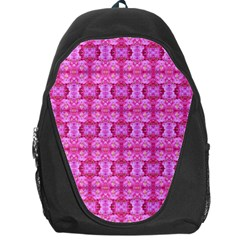 Pretty Pink Flower Pattern Backpack Bag