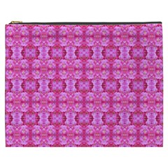 Pretty Pink Flower Pattern Cosmetic Bag (XXXL)