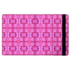 Pretty Pink Flower Pattern Apple iPad 3/4 Flip Case