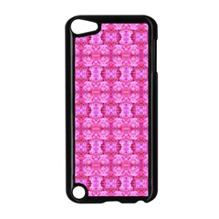 Pretty Pink Flower Pattern Apple iPod Touch 5 Case (Black)