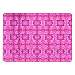 Pretty Pink Flower Pattern Samsung Galaxy Tab 10.1  P7500 Flip Case