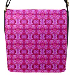 Pretty Pink Flower Pattern Flap Messenger Bag (S)