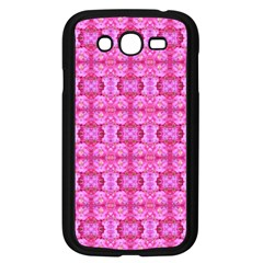 Pretty Pink Flower Pattern Samsung Galaxy Grand DUOS I9082 Case (Black)