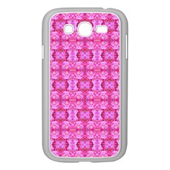 Pretty Pink Flower Pattern Samsung Galaxy Grand DUOS I9082 Case (White)