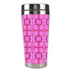 Pretty Pink Flower Pattern Stainless Steel Travel Tumblers