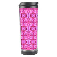Pretty Pink Flower Pattern Travel Tumblers