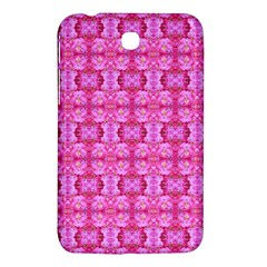 Pretty Pink Flower Pattern Samsung Galaxy Tab 3 (7 ) P3200 Hardshell Case