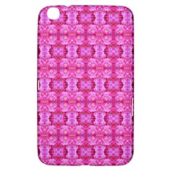 Pretty Pink Flower Pattern Samsung Galaxy Tab 3 (8 ) T3100 Hardshell Case