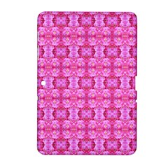 Pretty Pink Flower Pattern Samsung Galaxy Tab 2 (10.1 ) P5100 Hardshell Case