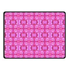 Pretty Pink Flower Pattern Double Sided Fleece Blanket (Small)