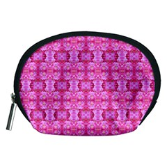 Pretty Pink Flower Pattern Accessory Pouches (Medium)