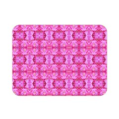 Pretty Pink Flower Pattern Double Sided Flano Blanket (Mini)