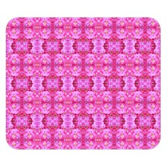 Pretty Pink Flower Pattern Double Sided Flano Blanket (Small)